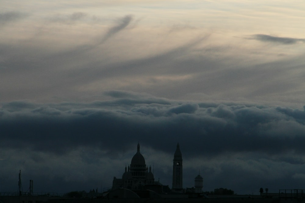 landscape silhouette photography of tower and dome