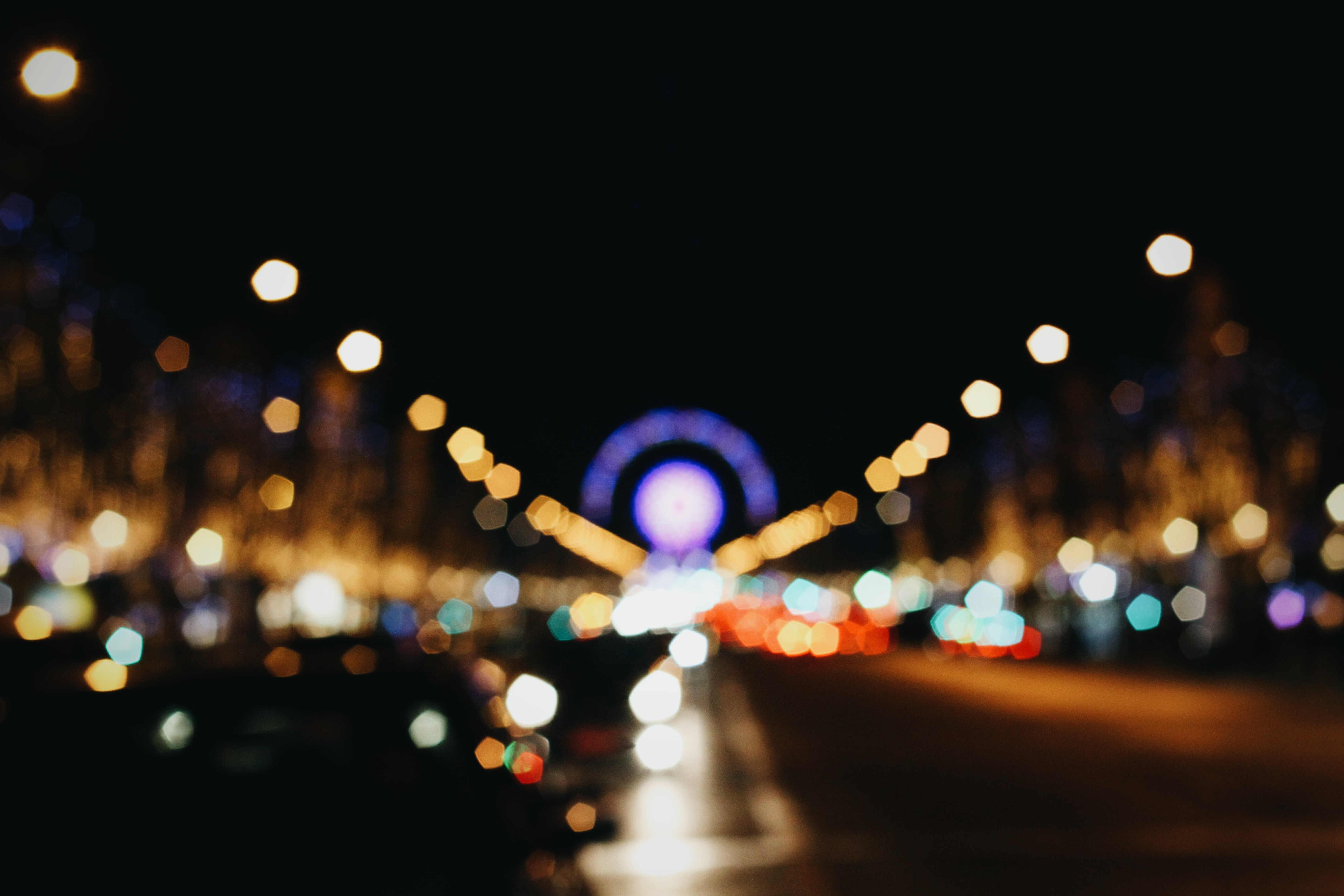 bokeh photography of lights on road during nighttime