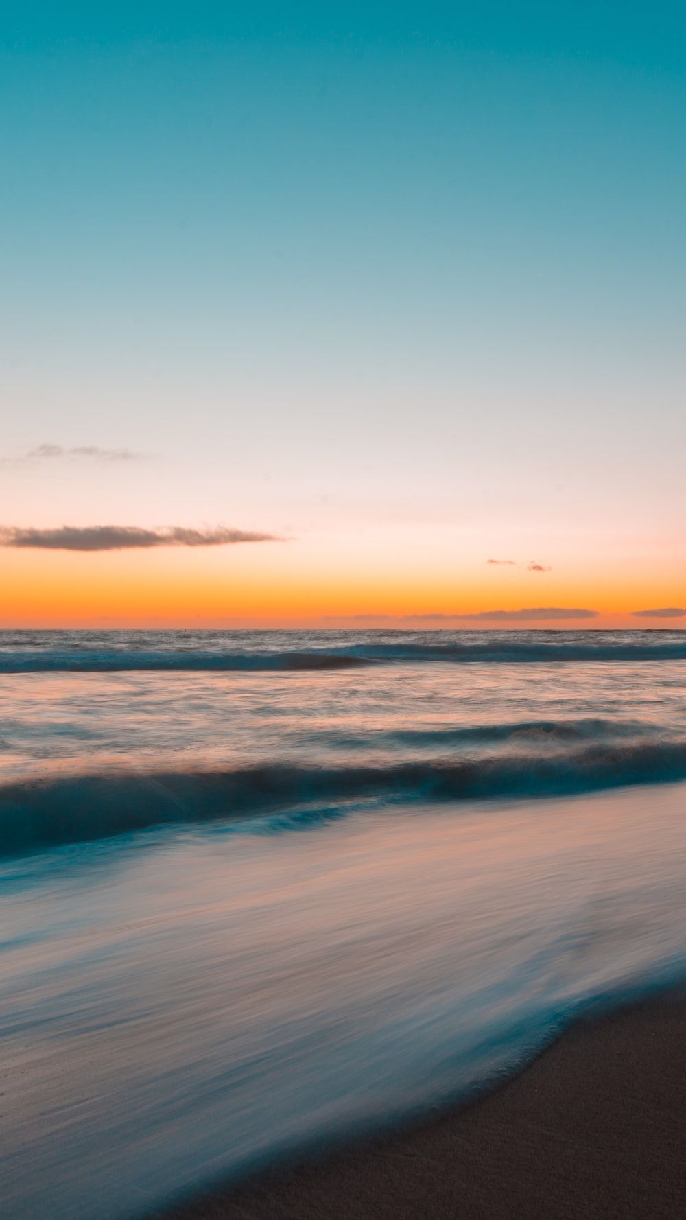 landscape photography of water waves