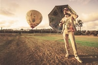Hendrick's Gin hosted a hot air balloon and many talented actors at the KAABOO music festival in San Diego, CA 2017.