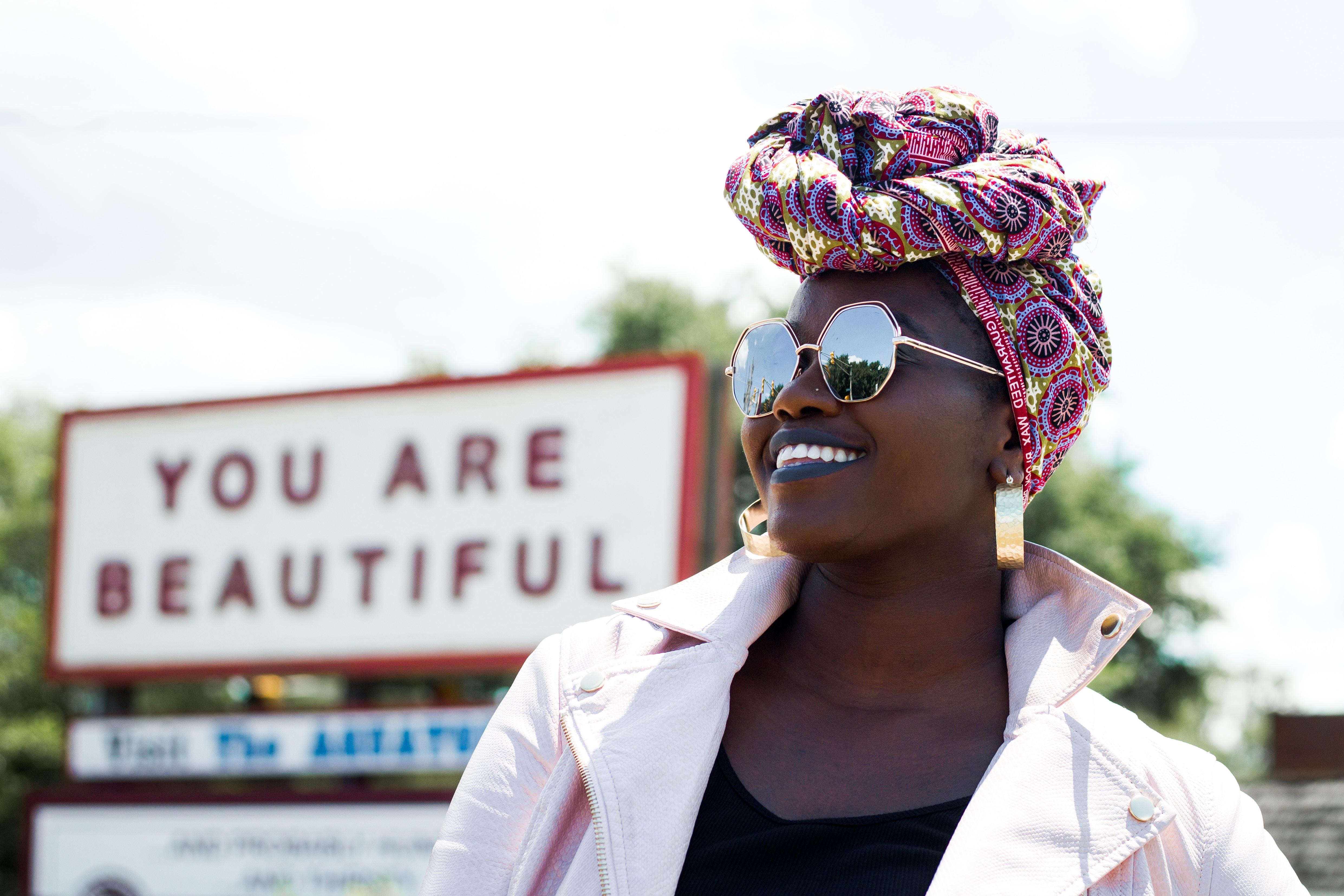 women's pink turban