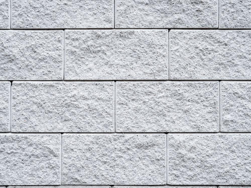 white brick surface
