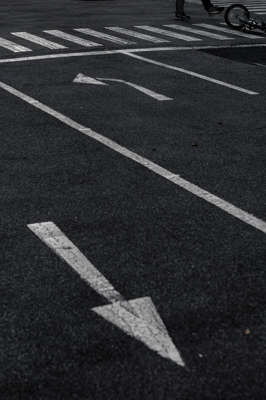 pedestrian lane on road