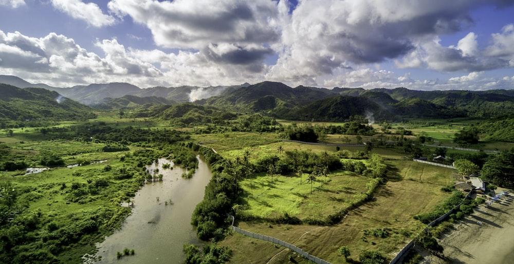 aerial photography of landmass
