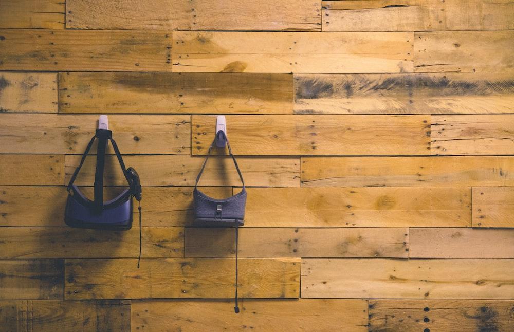 closeup photo of two blue VR box goggles