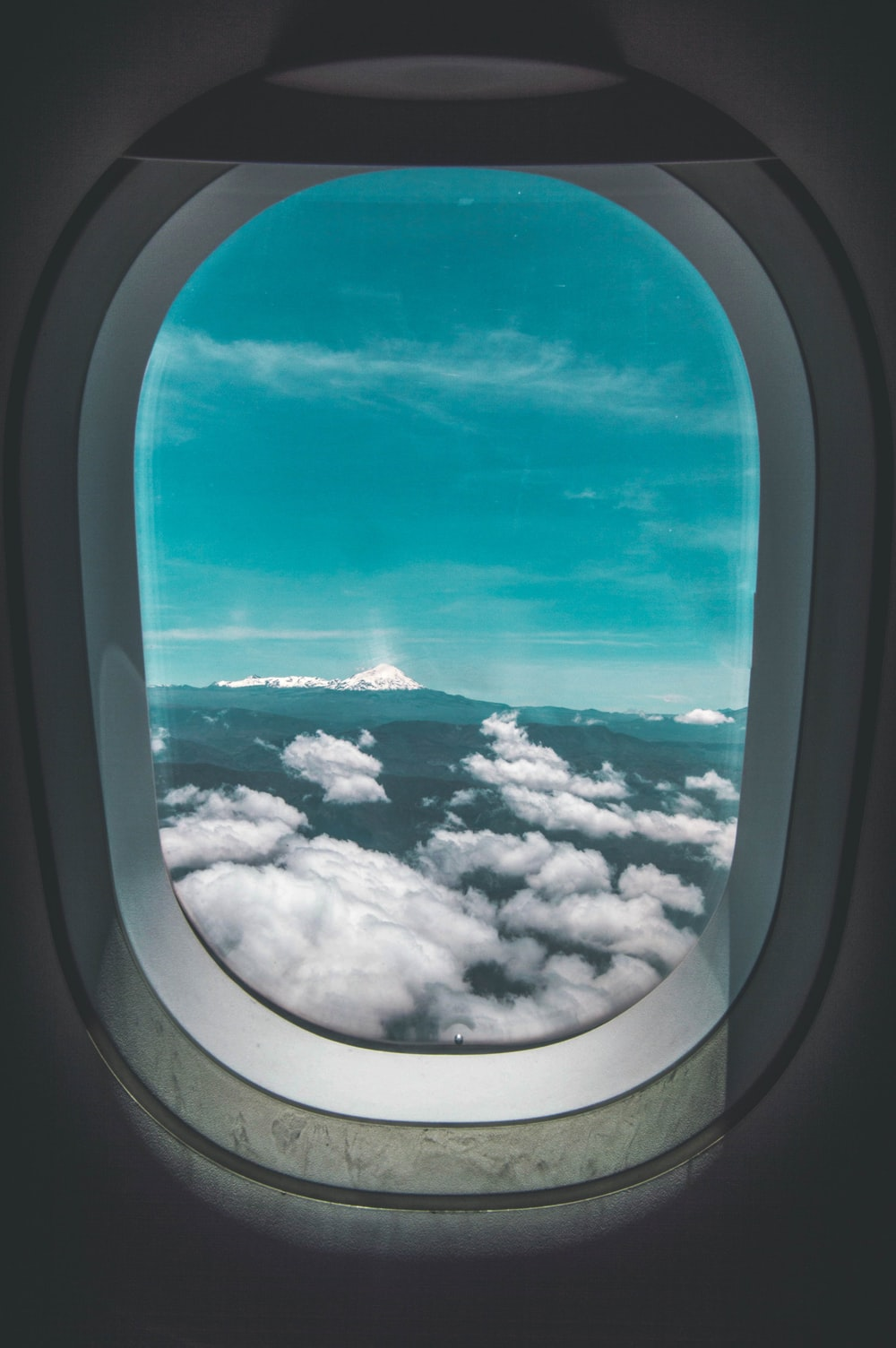 airplane window during daytime