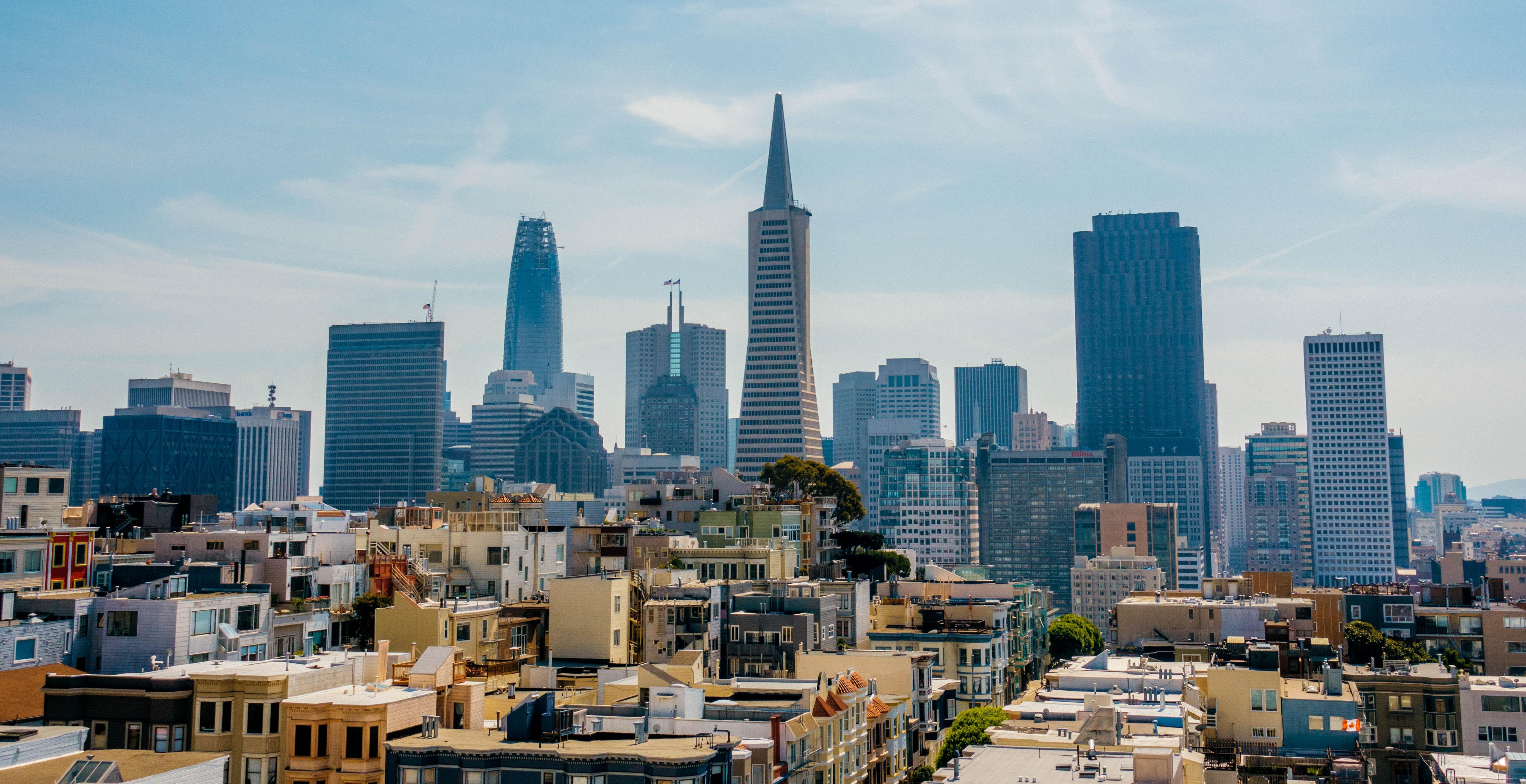 high angle photo of metropolis