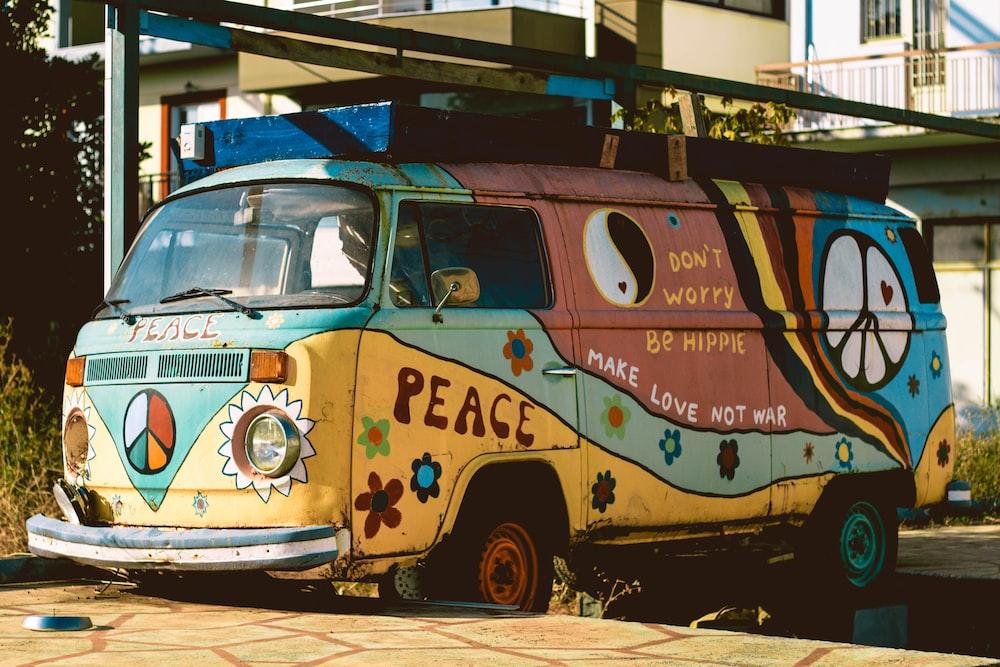 multicolored Volkswagen Samba
