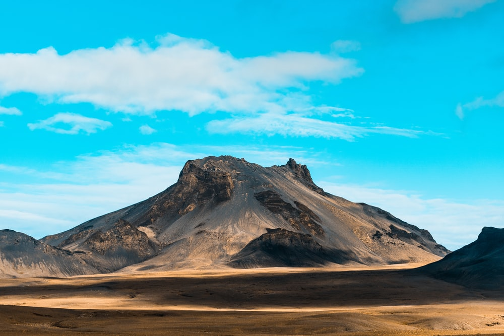 landscape photography of moutain