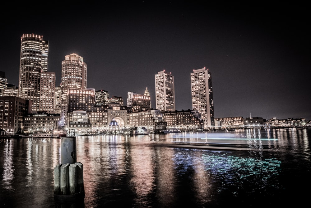 city buildings during nighttime