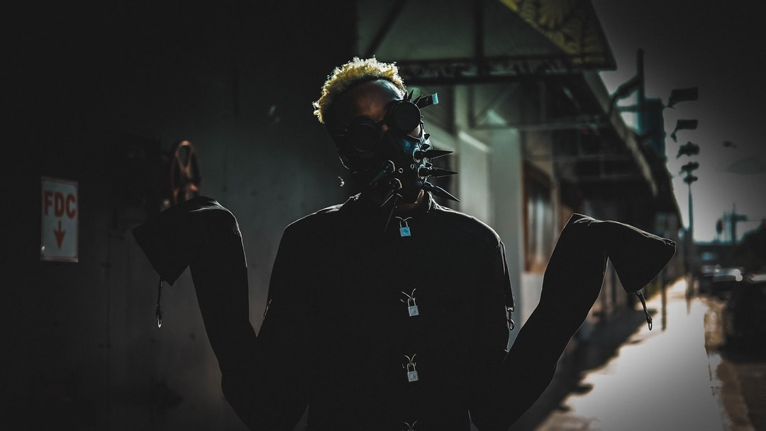 I wanted to bring a mad max vibe mixed with a resident evil look. Creepy mad max style suit with a blurred industrial wasteland look in the background kinda like resident evil!  Follow @geovonniex on all social media platforms!