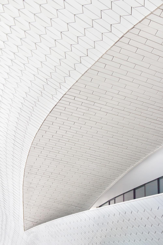 white concrete ceiling