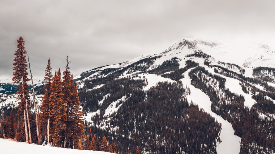 Skiing in Big Sky, MT