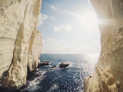 photo of sea and rocks rosh hashana zoom background