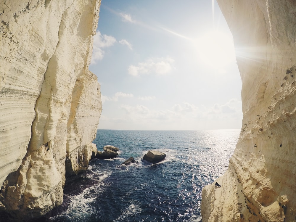photo of sea and rocks