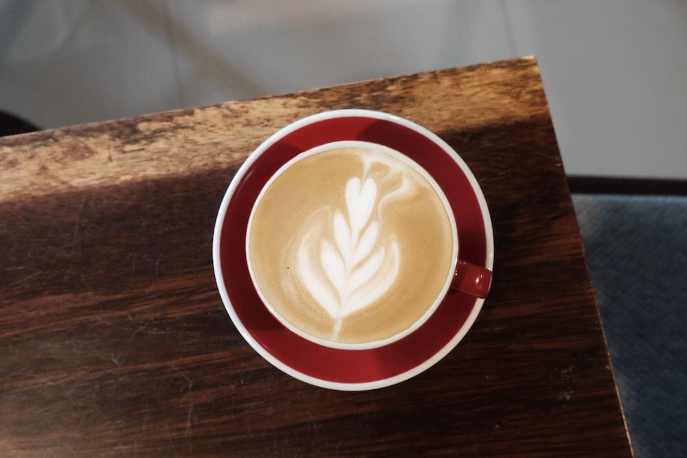 flat lay photography of coffee art