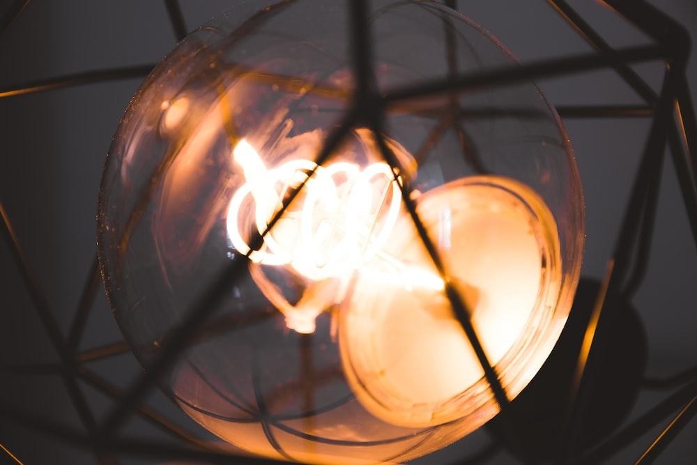 round brown light