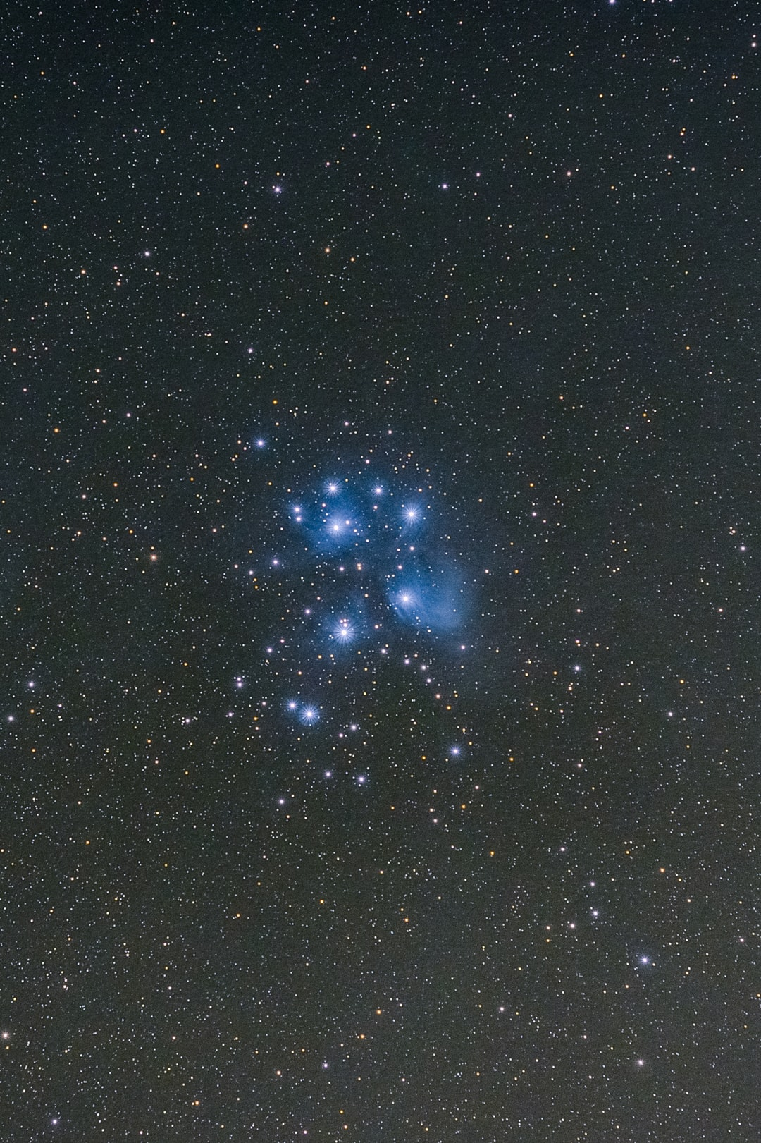 I took this photo last night in my backyard in Petaluma, California. It is a picture of the Seven Sisters or Pleiades or M45. They are blue in color due to the extreme heat of the stars. This always a fun sky object to photograph. Most of you probably didn't even know it looked this way, but it does! Get out this winter and look up in the sky! I'm on IG @bryangoffphoto Stop by and say hi!