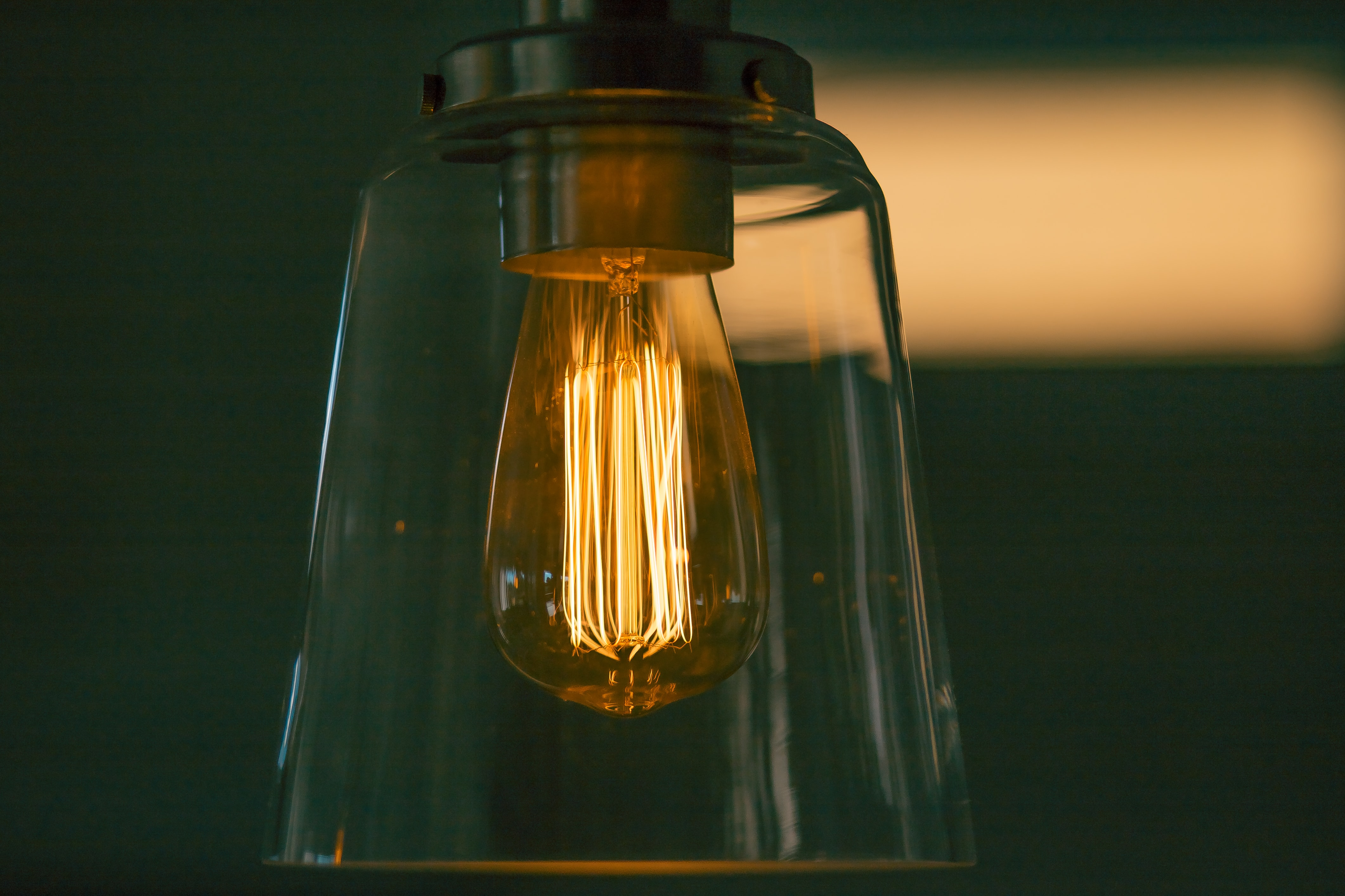 shallow focus photography of incandescent bulb