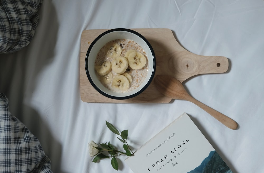 bowl of banana cereal