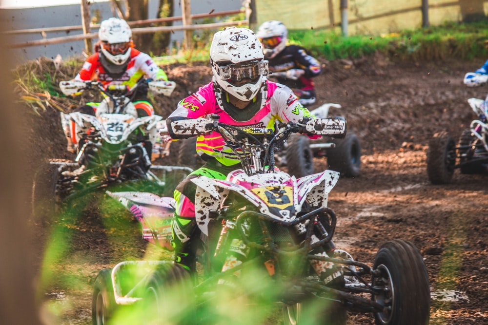 ATV racing in action photo