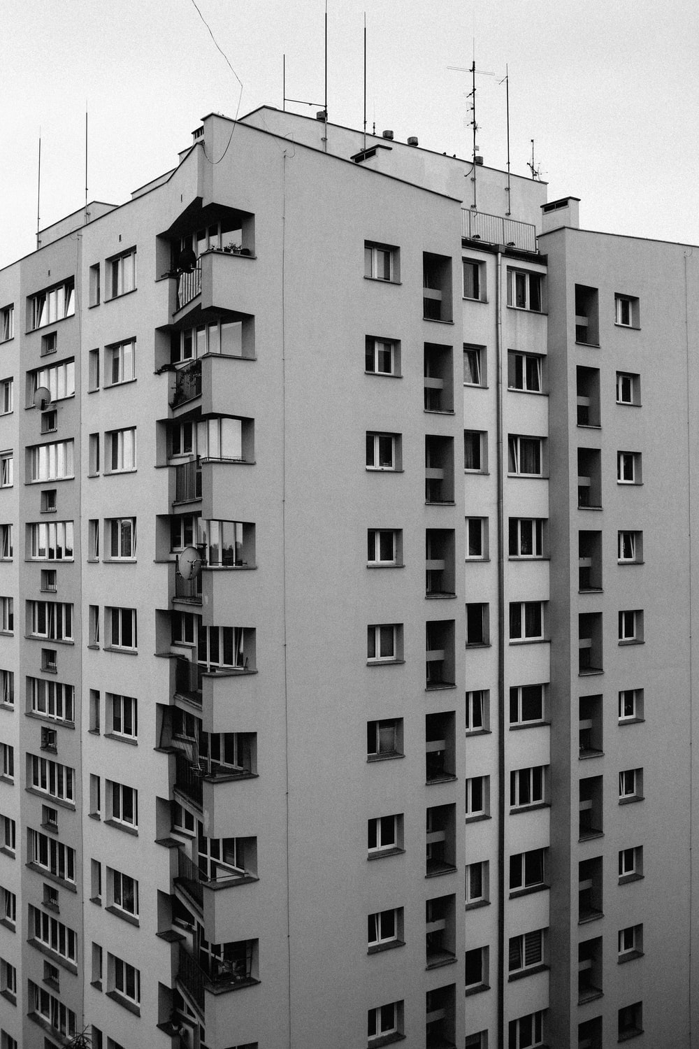 grey and white concrete building