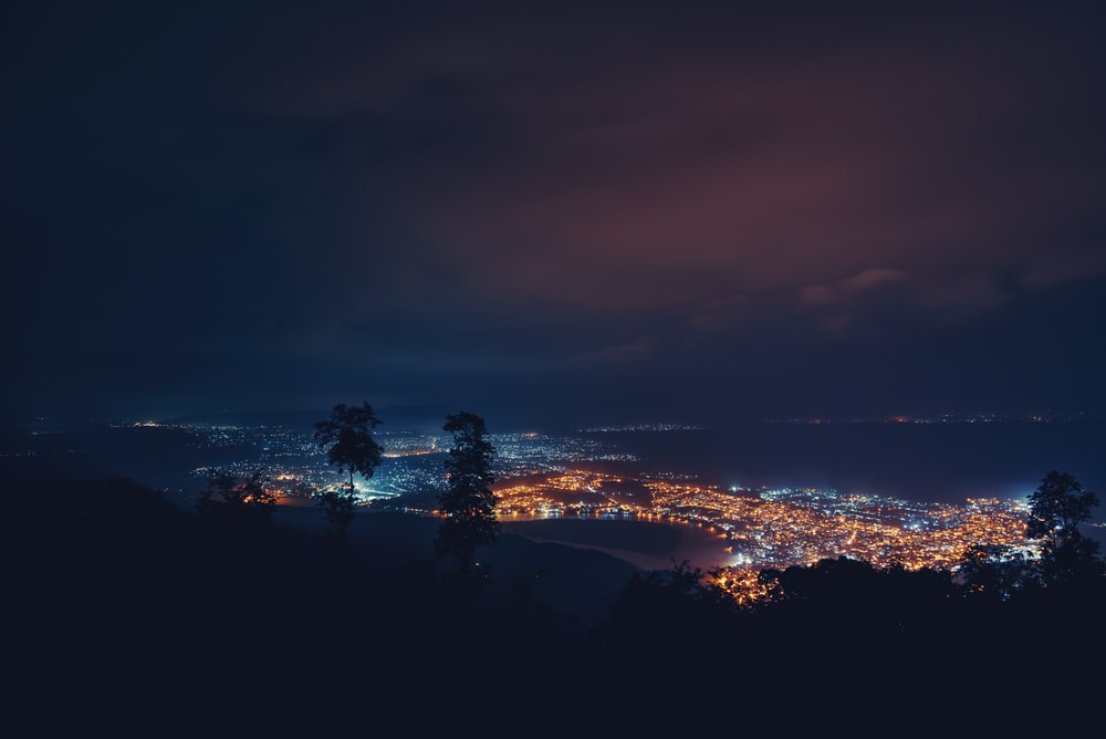 photo of cityscape during nighttime