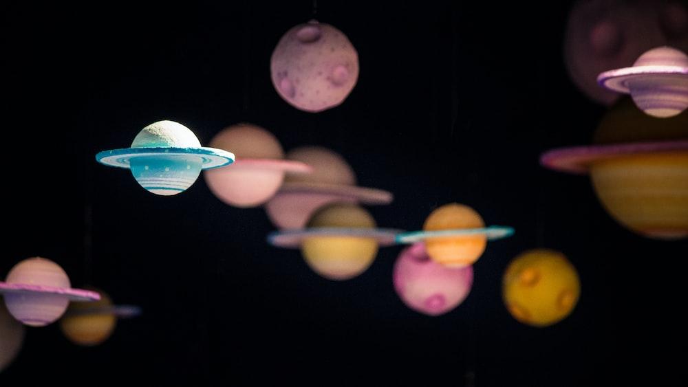 assorted planet decor