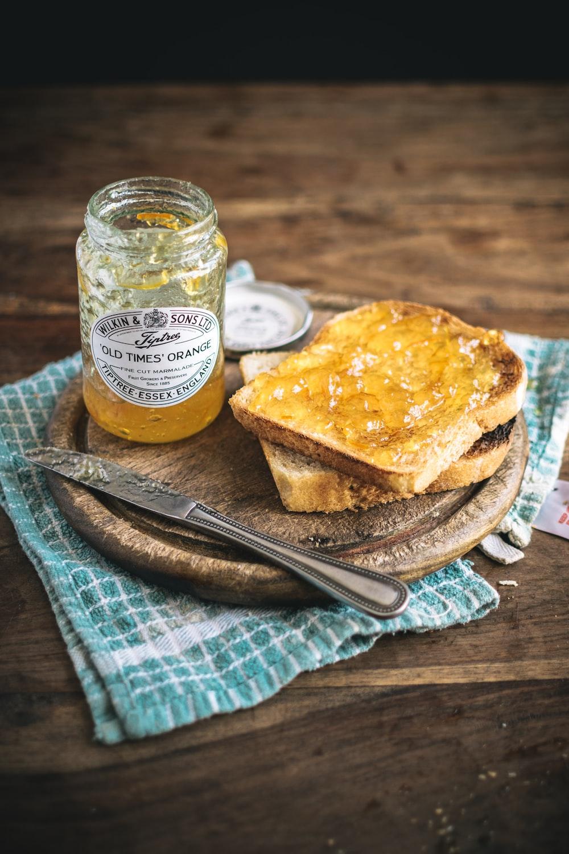 toasted sandwich with orange jam