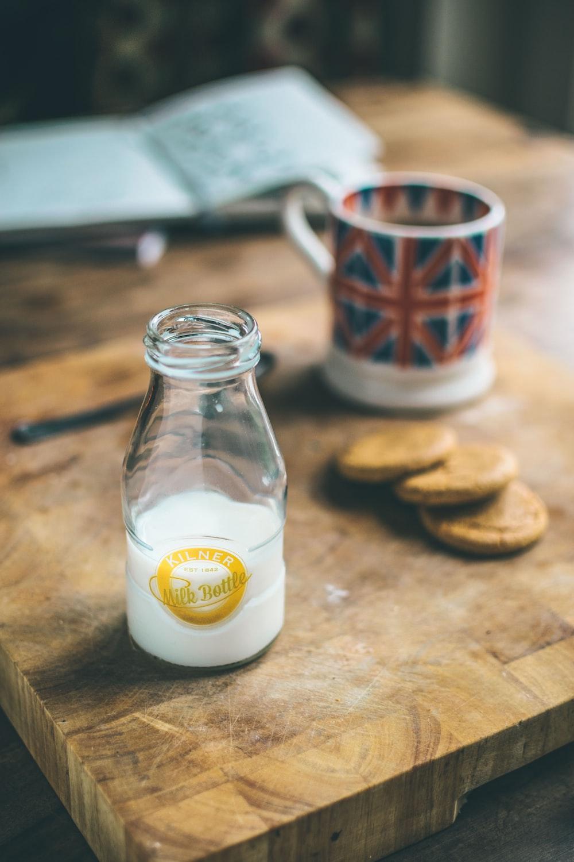 Kilner Milk Bottle on brown wooden table