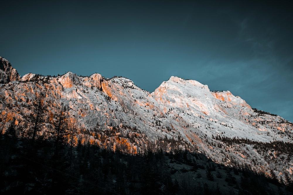 mountain under sky