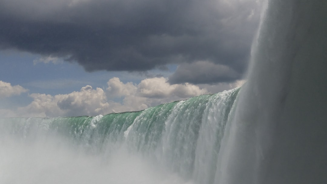 My first time seeing the falls. We were on the boat that takes you up close and personal to the falls. It was thunderously loud, very wet, and incredibly beautiful!