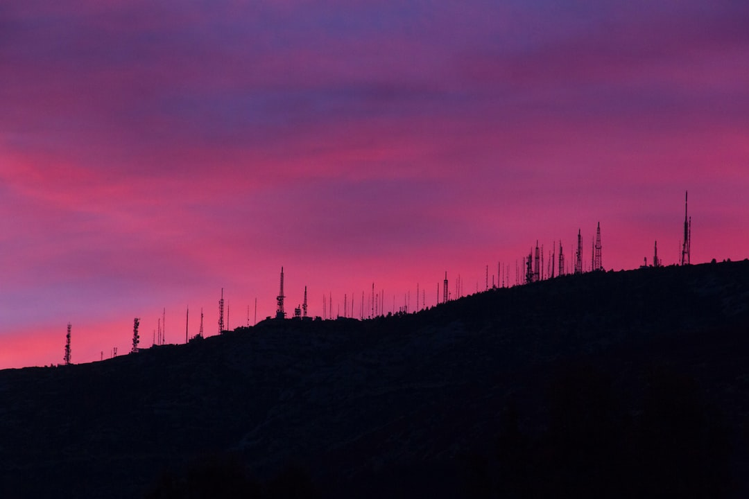 Purple sky during sunrise