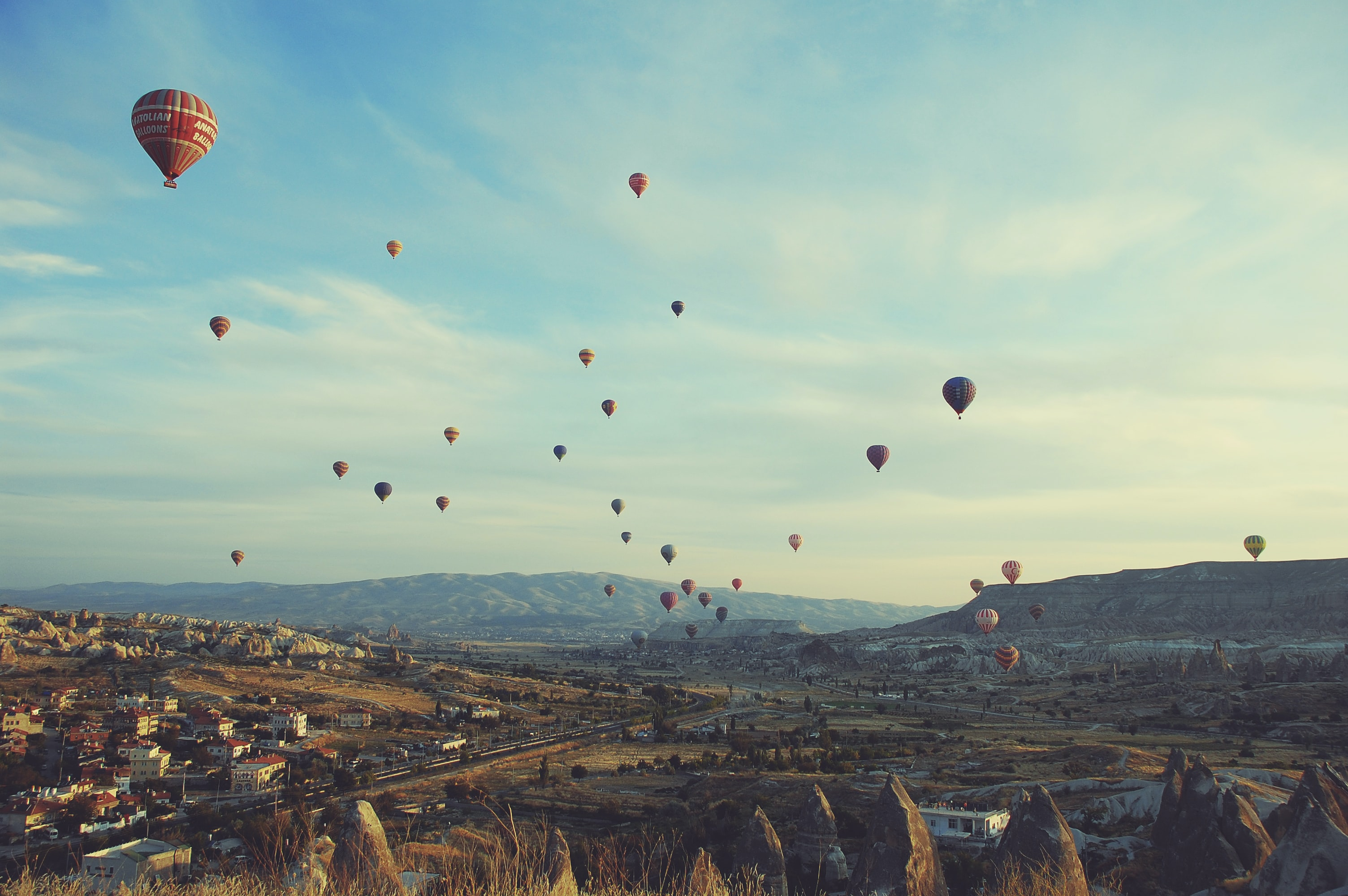 assorted-color hot air balloons during day time