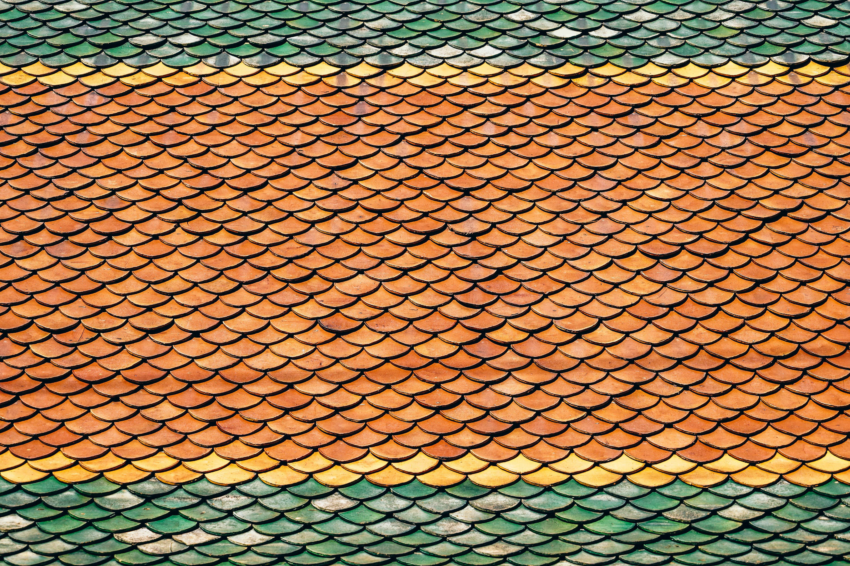 orange and green patterns