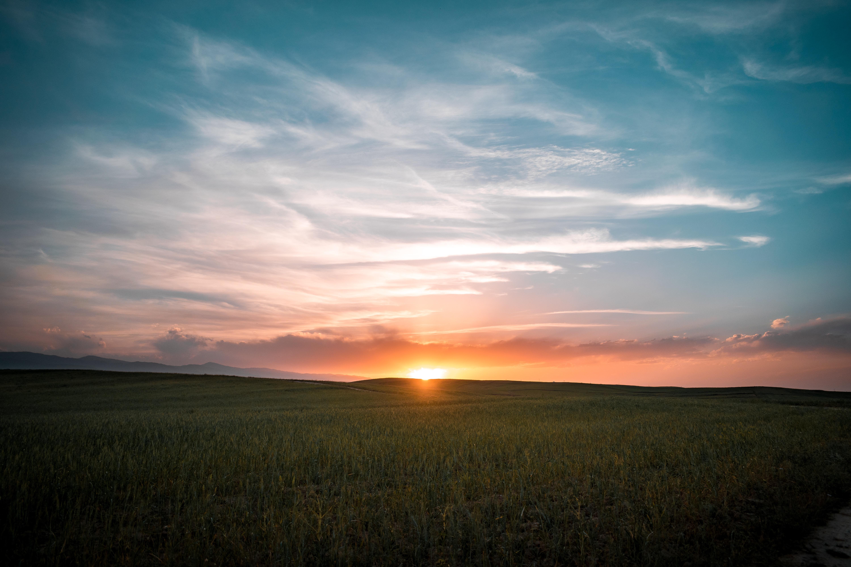 sunrise under sky