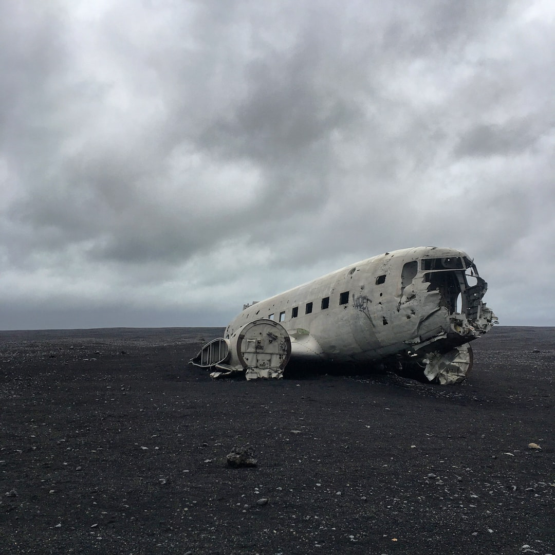 "This was from my unforgettable trip to ""Mars"". We took an 11pm night hike to the plane wreck on the black beach in South Iceland. The wind was fierce and the rain felt like small projectile pebbles. The torturous weather made the 2.5 mile walk feel like 10, but the first site of the plane so rewarding."
