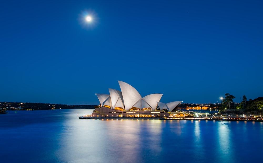 Sydney Opera House, Australia during nighttime
