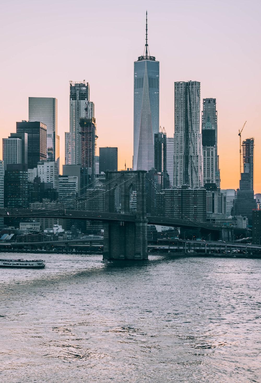 Brooklyn Bridge, New York during daytime