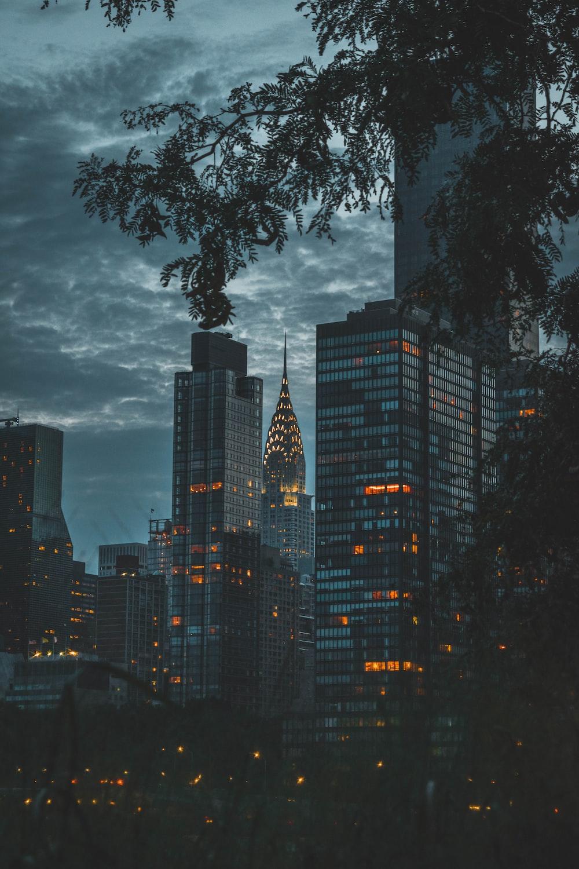 city lights at nighttime