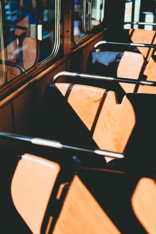 brown bus chair