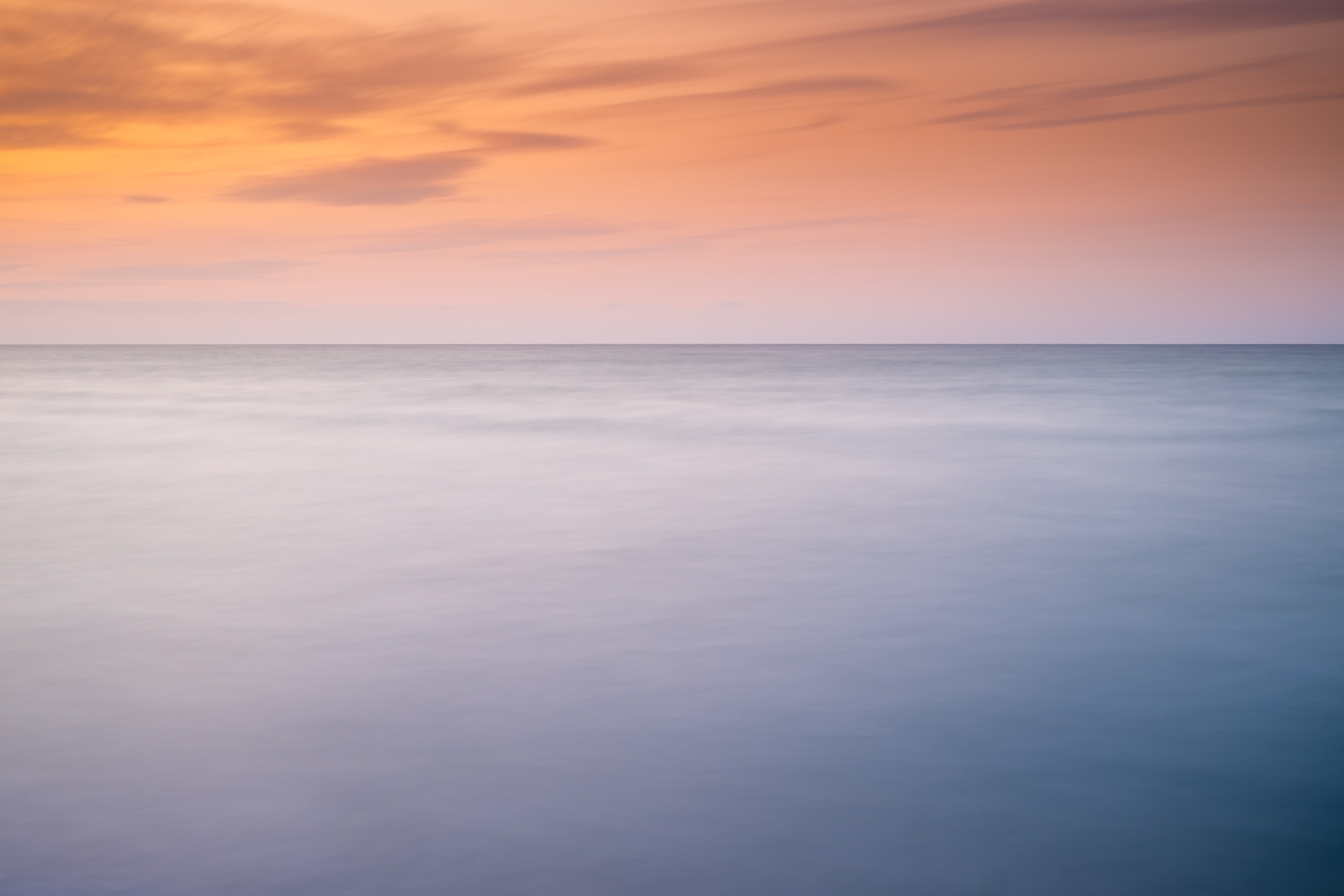 seascape photography of sunset
