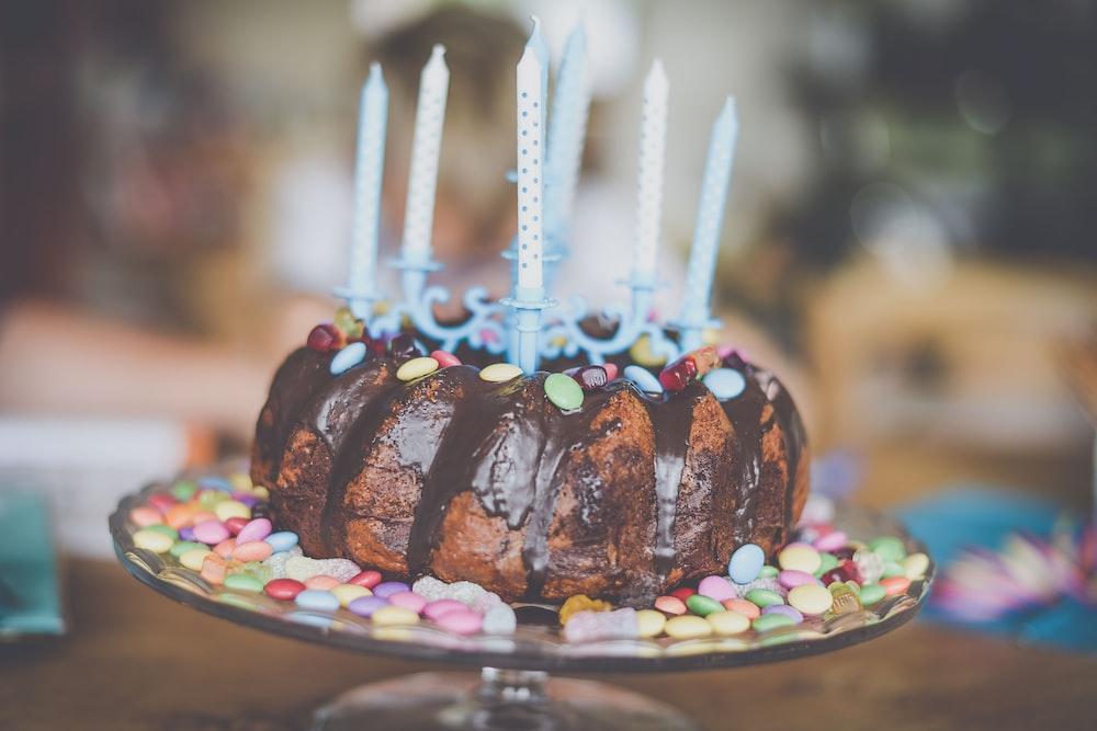 Shallow Focus Photography Of Birthday Cake
