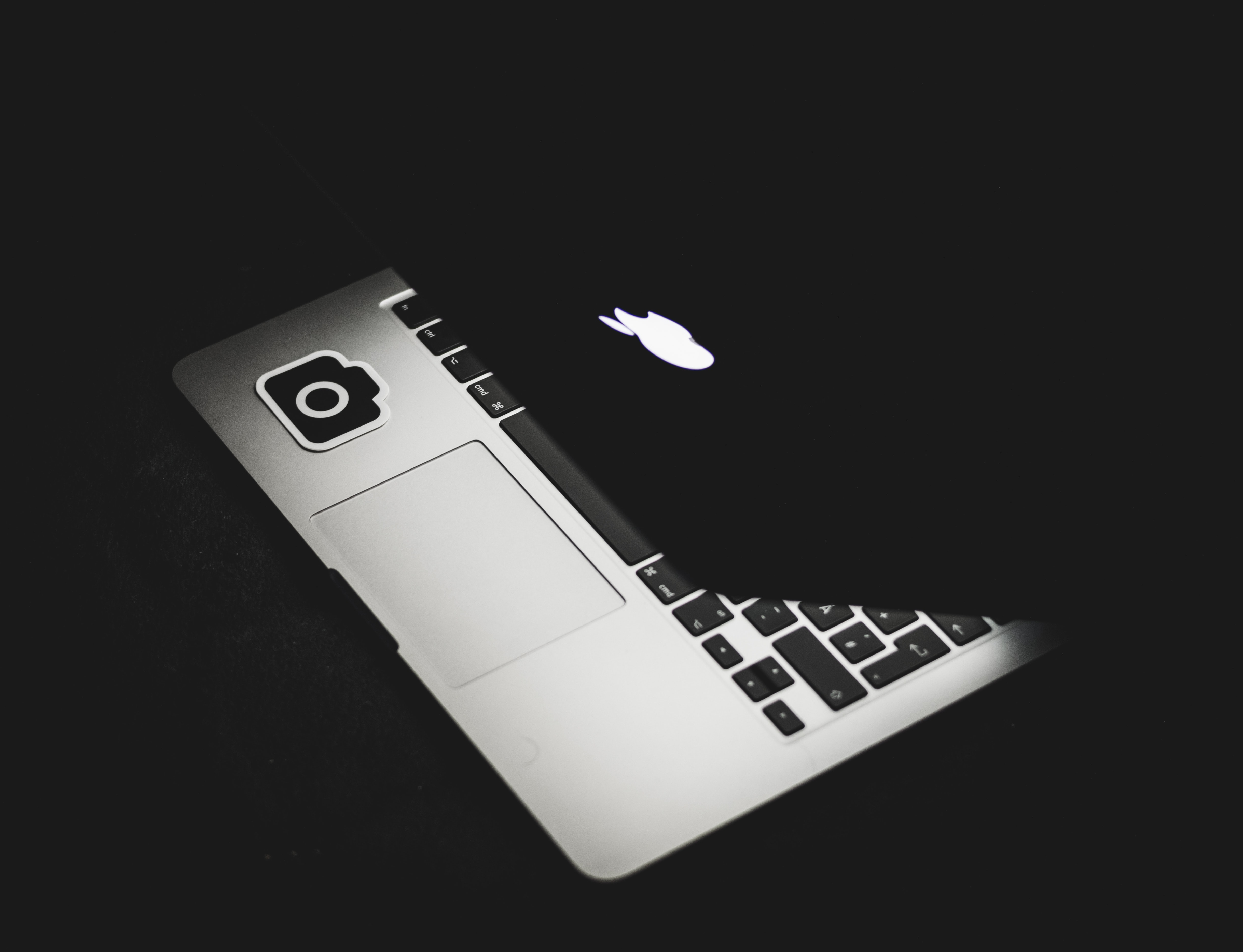 top view photography of MacBook Pro