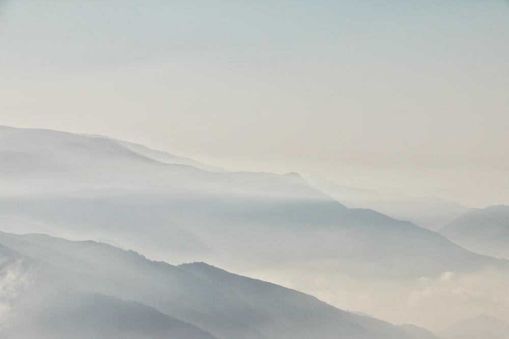 mountains during foggy season