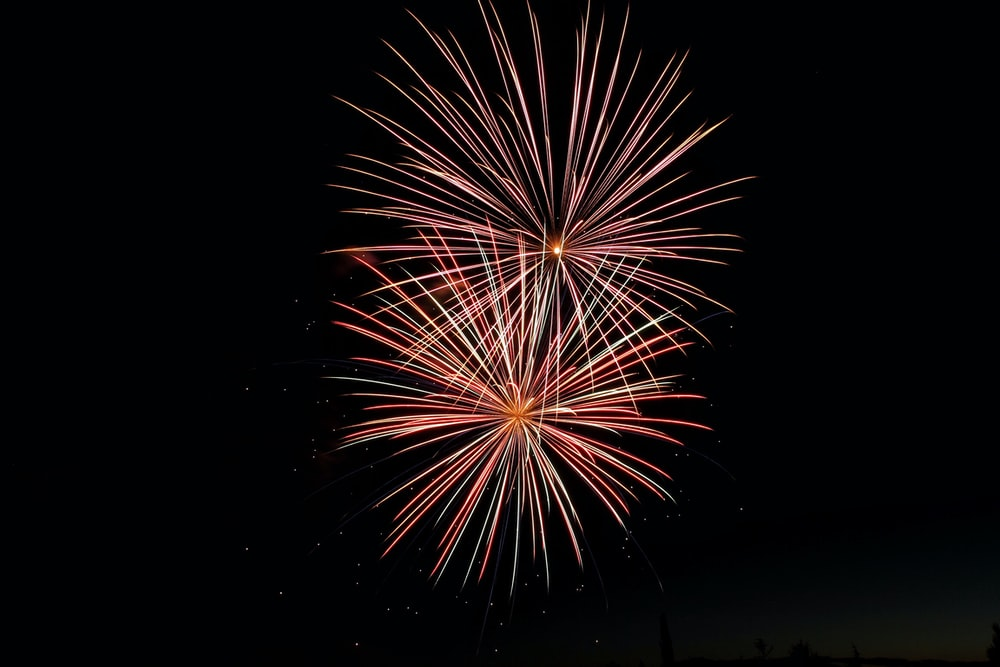 time lapse photography of fireworks display