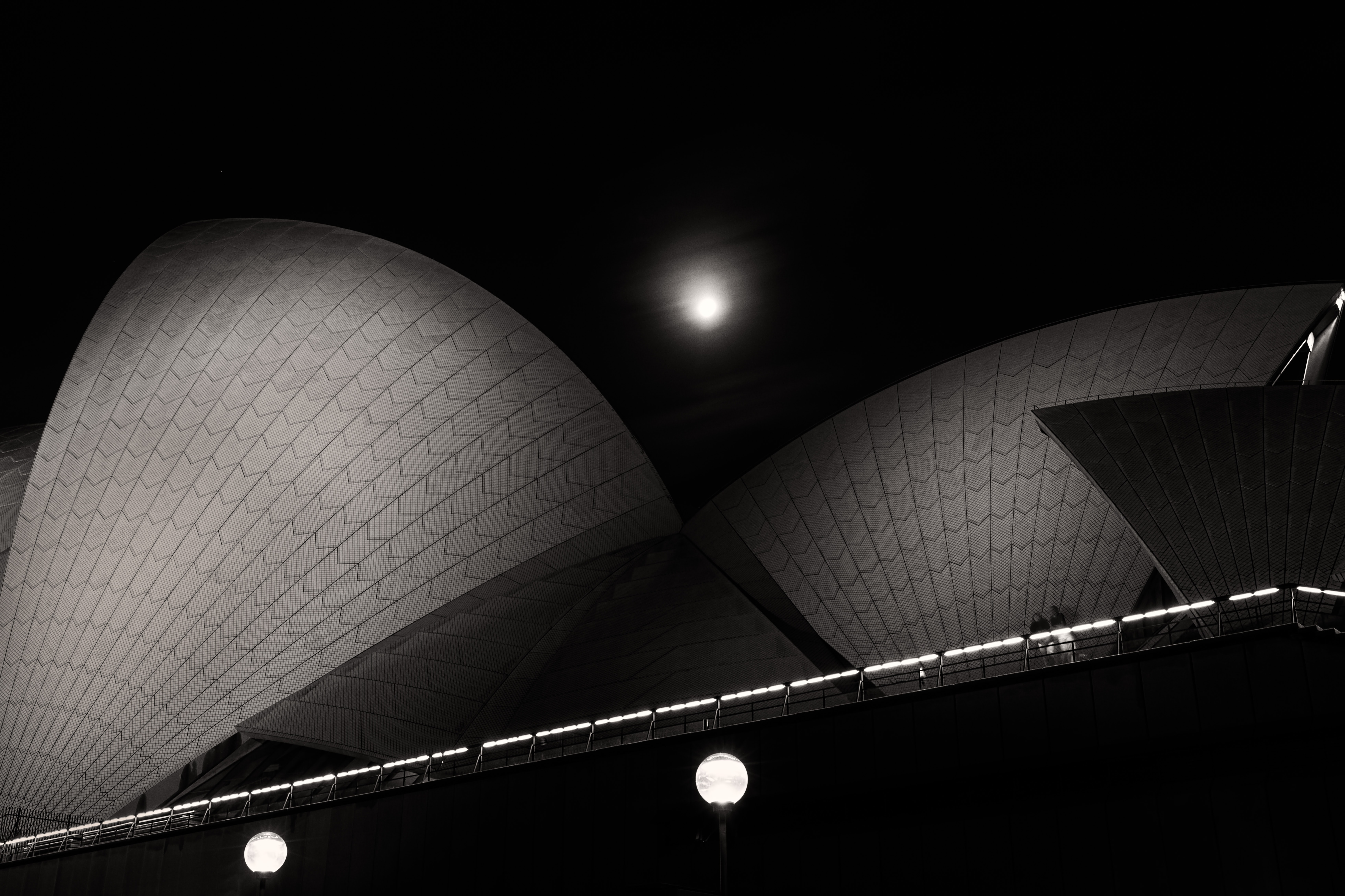 grayscale photography of structure