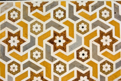 brown, white, and yellow floral pattern pattern zoom background