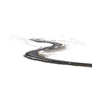 free roadway surrounded by snow