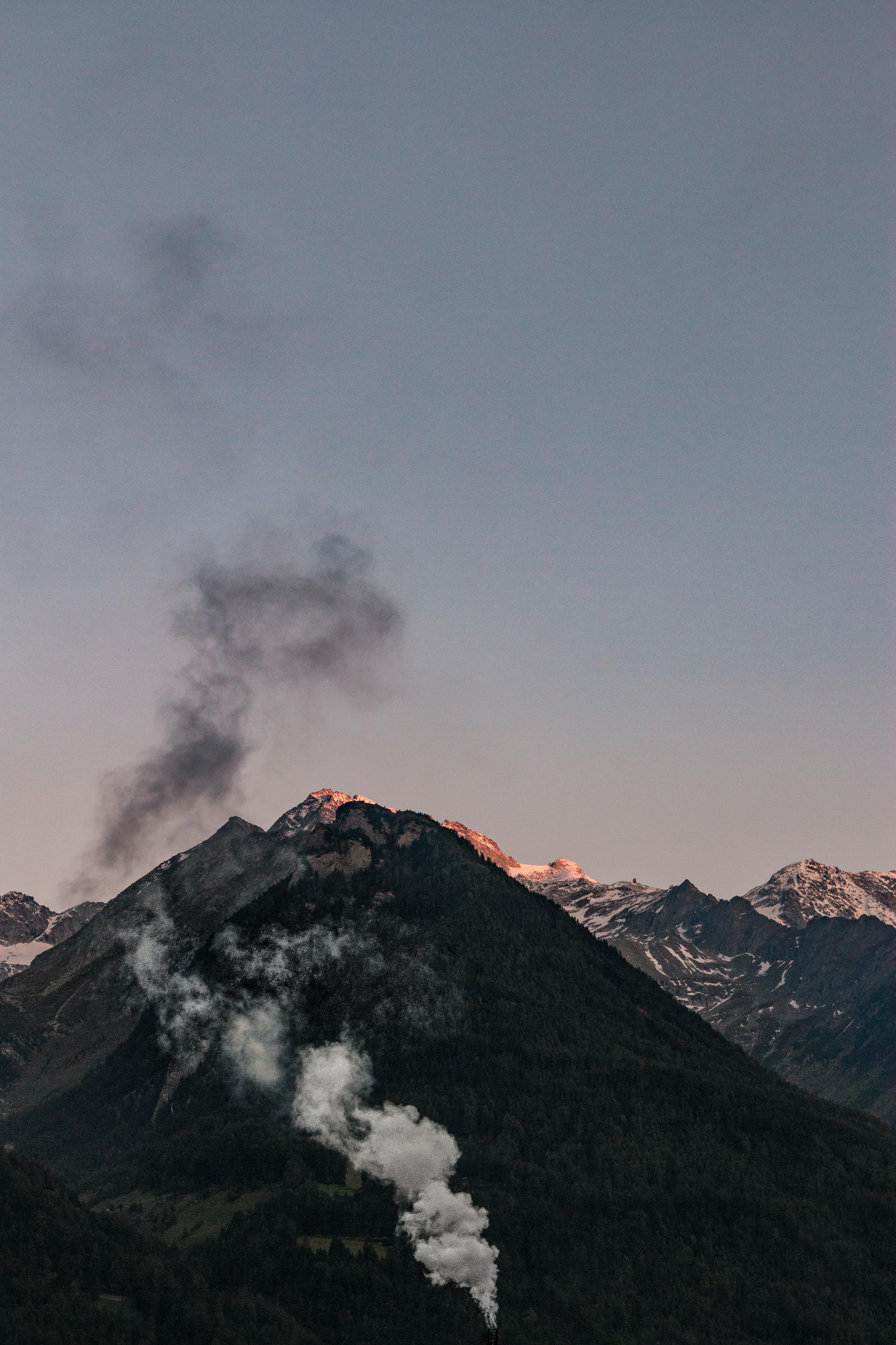 mountain peak during golden hour